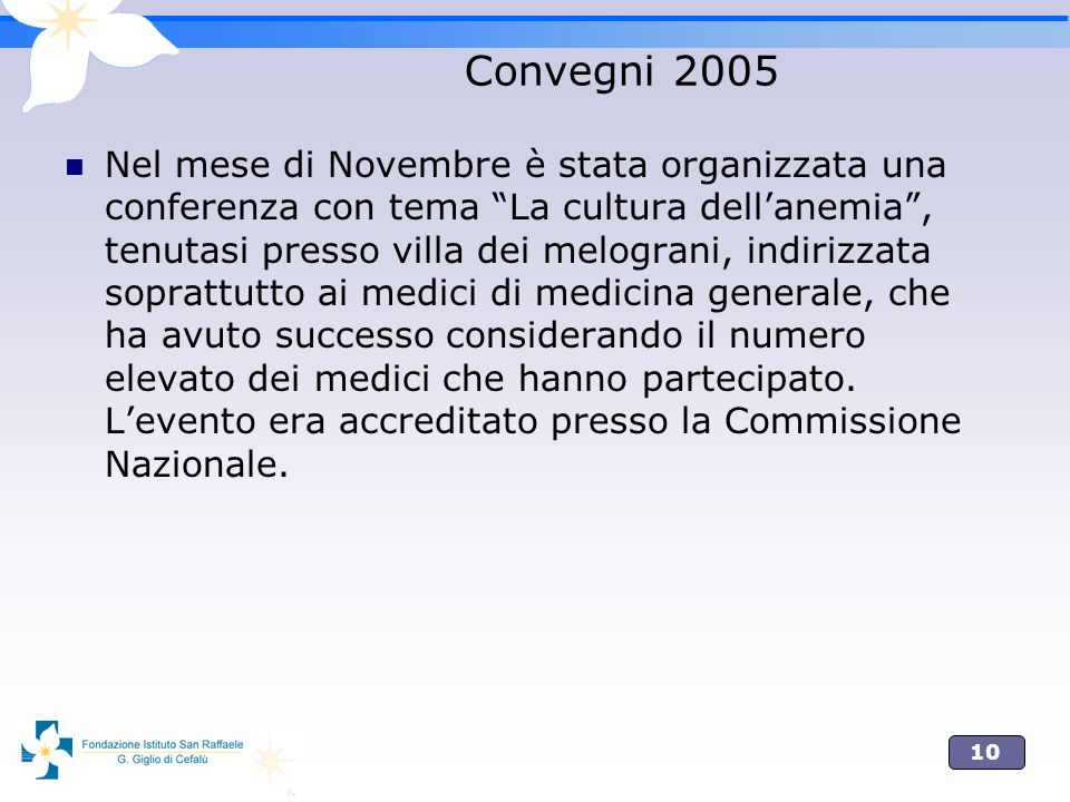 Convegni 2005