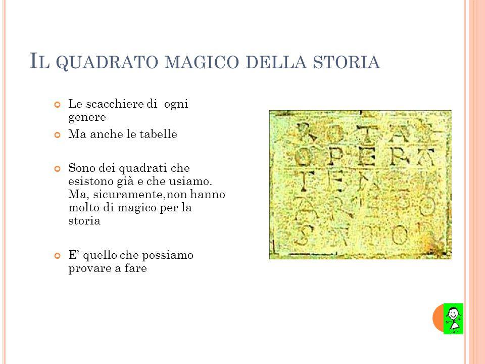 Il quadrato magico della storia