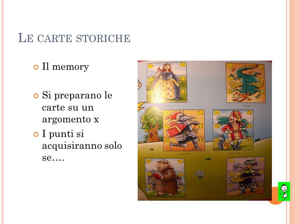 Le carte storiche Il memory Si preparano le carte su un argomento x