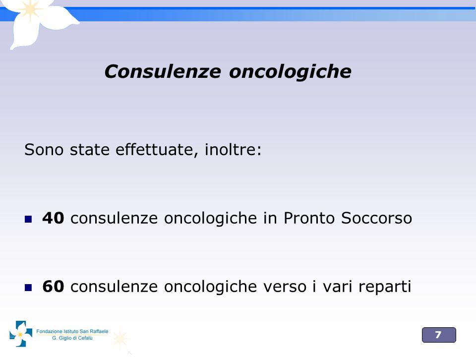 Consulenze oncologiche