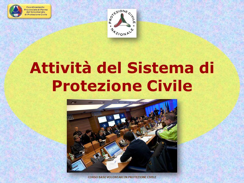 Attività del Sistema di Protezione Civile