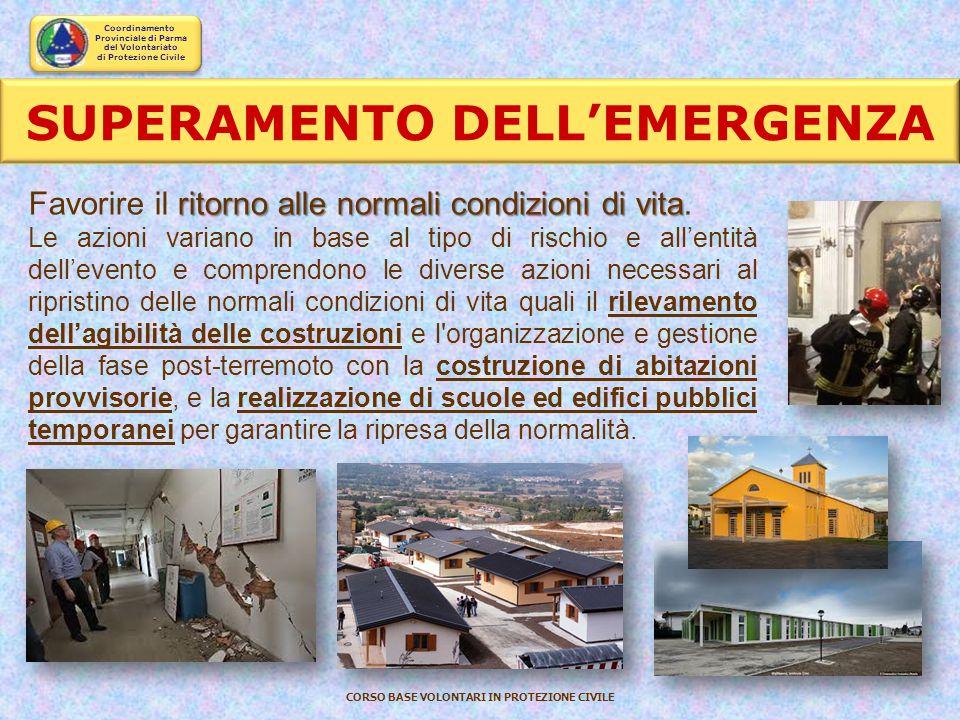 SUPERAMENTO DELL'EMERGENZA