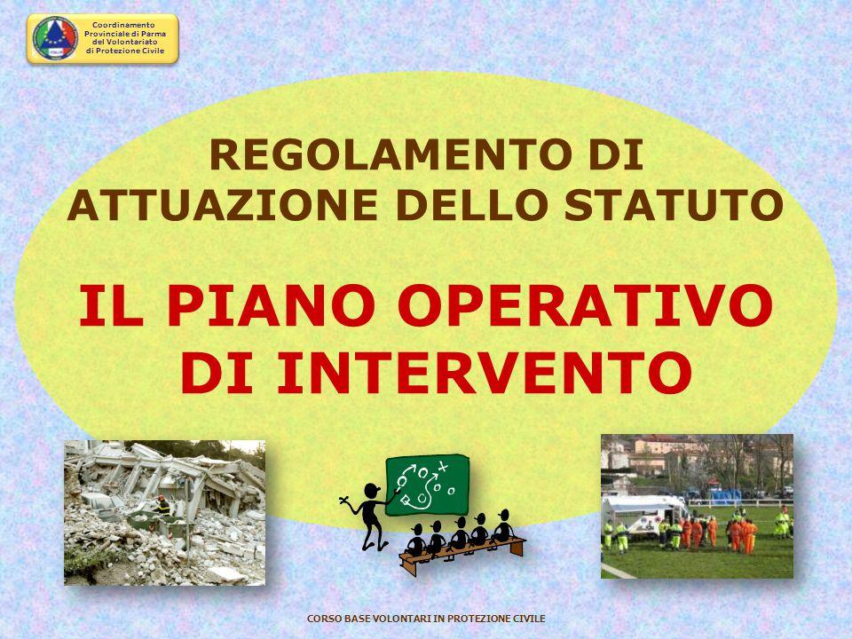 ATTUAZIONE DELLO STATUTO IL PIANO OPERATIVO DI INTERVENTO