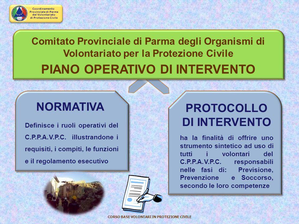PIANO OPERATIVO DI INTERVENTO PROTOCOLLO DI INTERVENTO