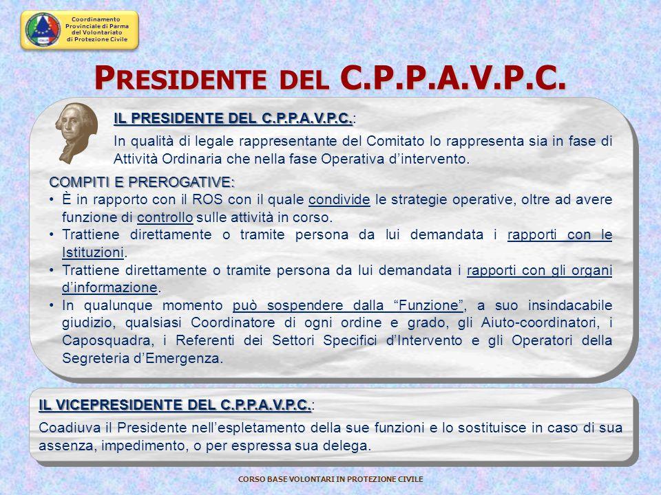Presidente del C.P.P.A.V.P.C.