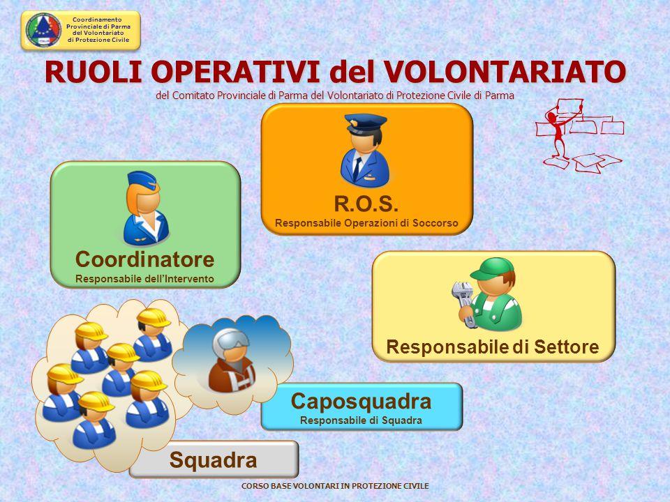 RUOLI OPERATIVI del VOLONTARIATO