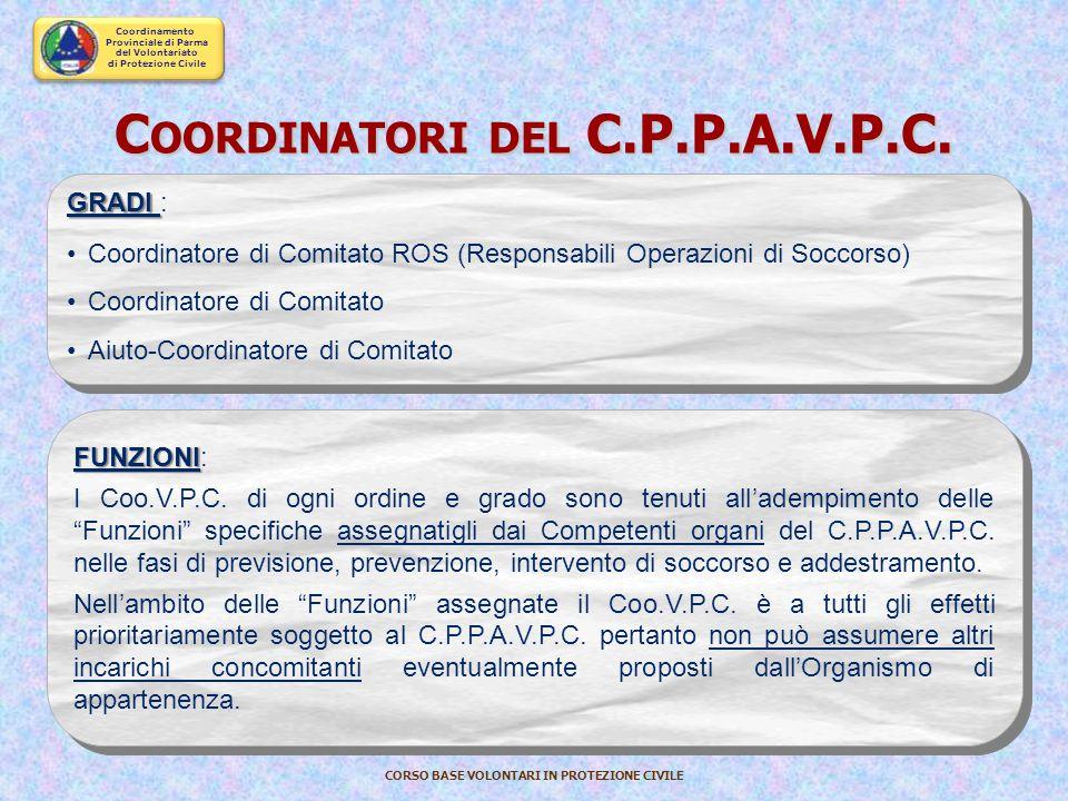 Coordinatori del C.P.P.A.V.P.C.