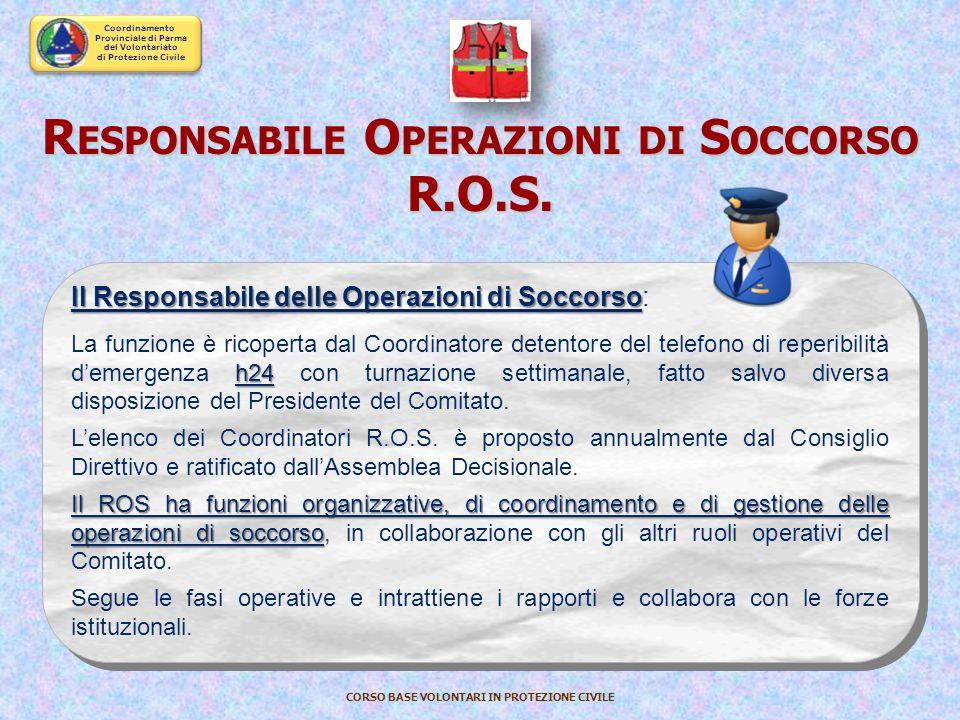 Responsabile Operazioni di Soccorso