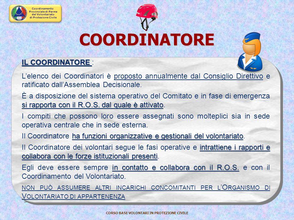 COORDINATORE IL COORDINATORE :