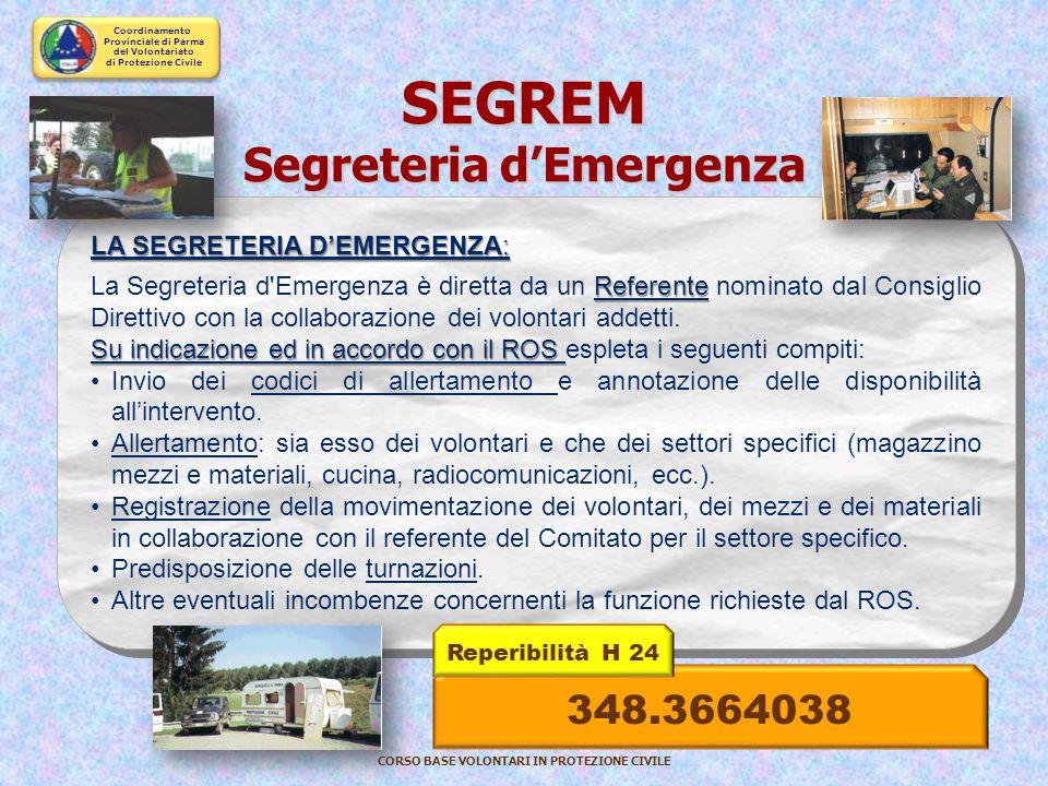 SEGREM Segreteria d'Emergenza