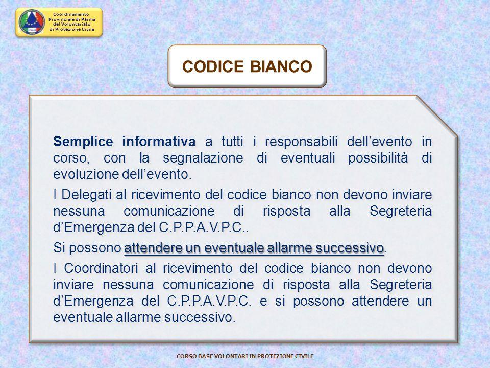CODICE BIANCO