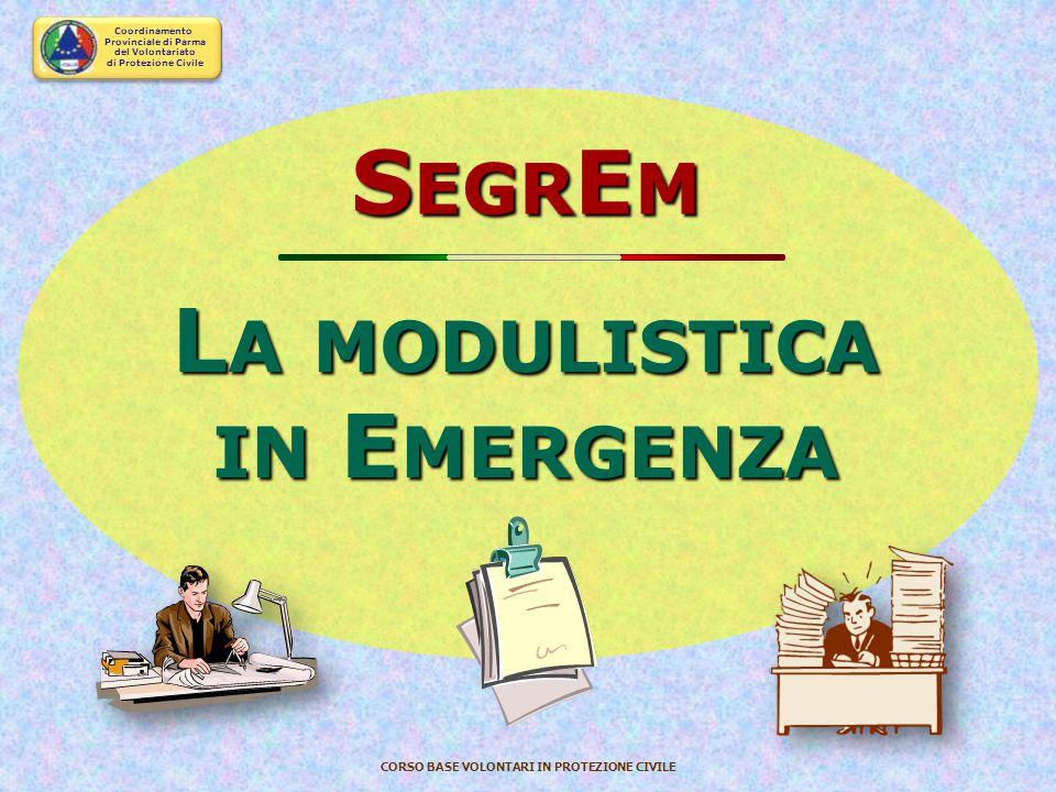 SegrEm La modulistica in Emergenza