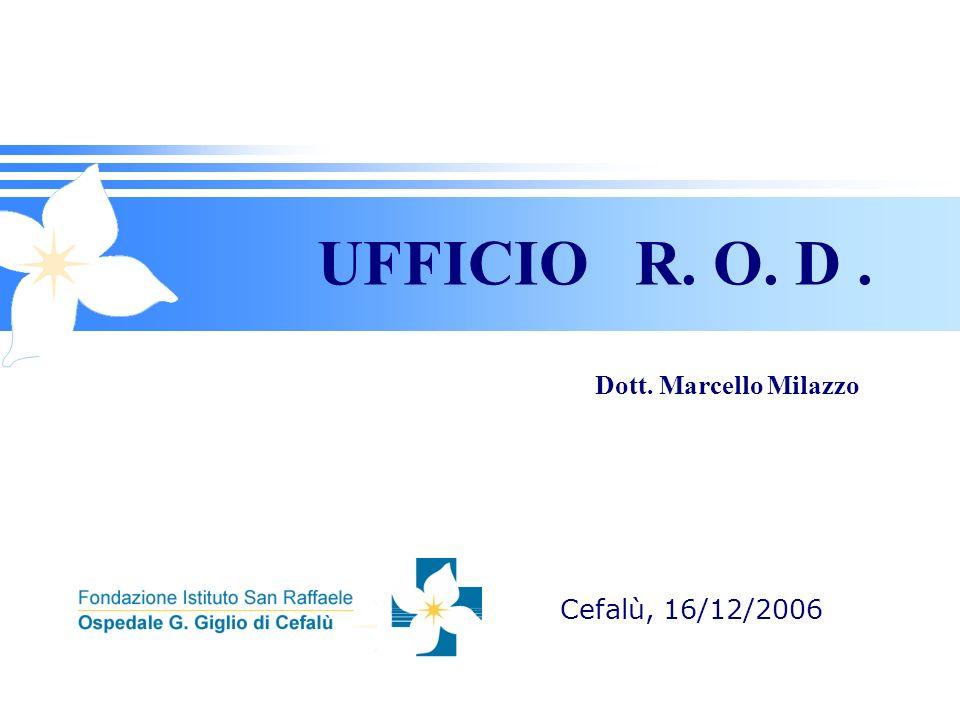 UFFICIO R. O. D . Dott. Marcello Milazzo Cefalù, 16/12/2006