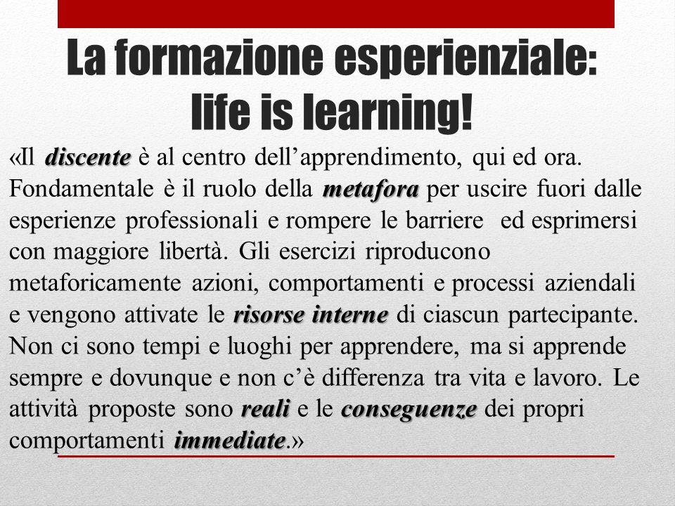 La formazione esperienziale: life is learning!