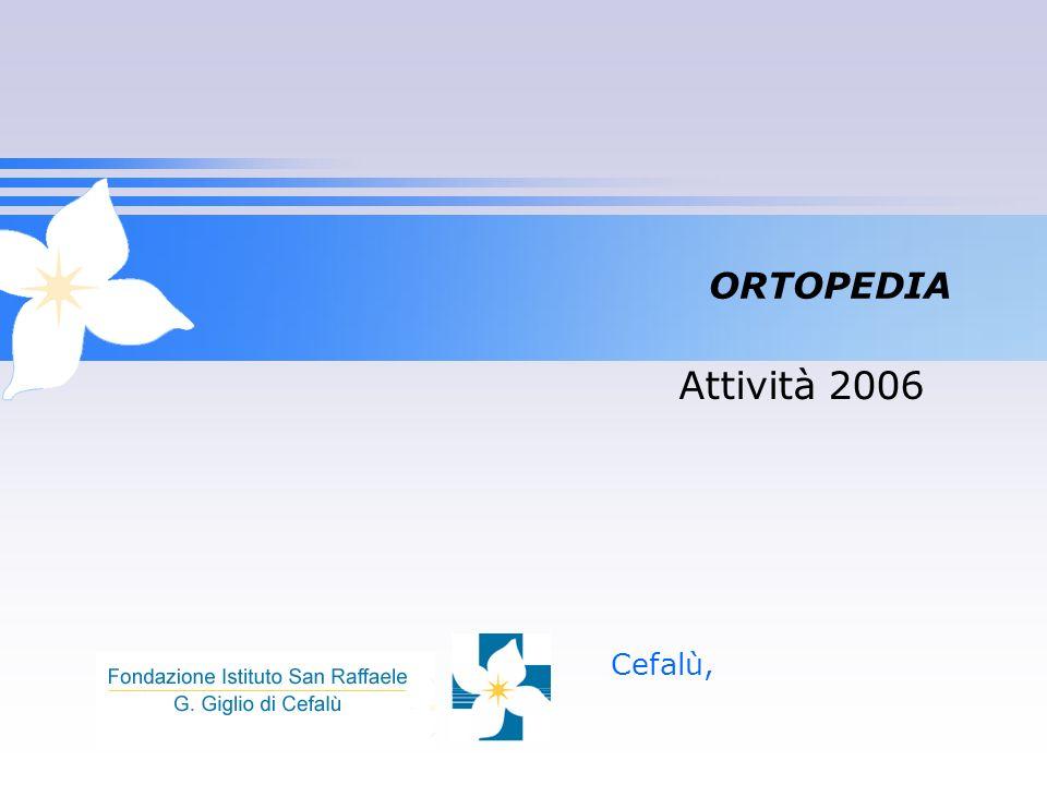 ORTOPEDIA Attività 2006 Cefalù,