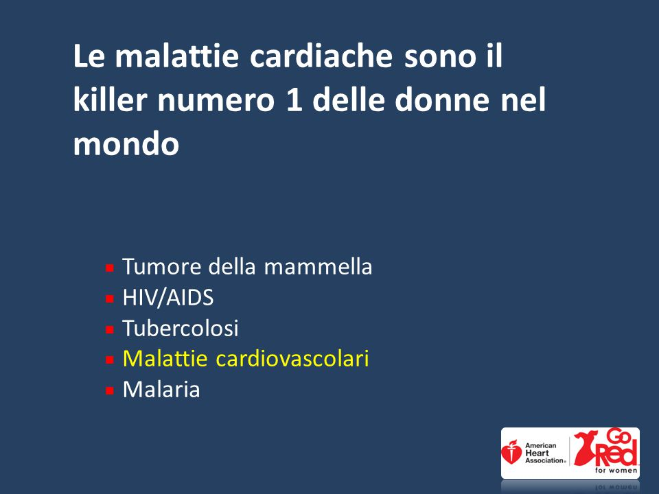 Le malattie cardiache sono il killer numero 1 delle donne nel mondo