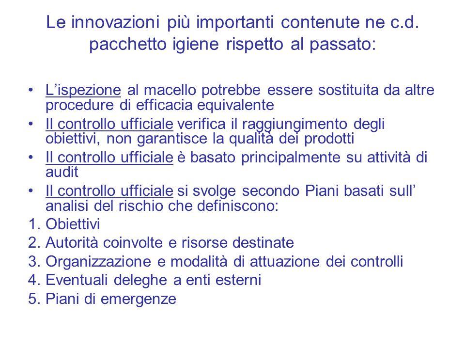Le innovazioni più importanti contenute ne c. d