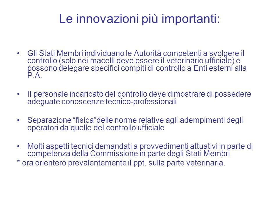 Le innovazioni più importanti: