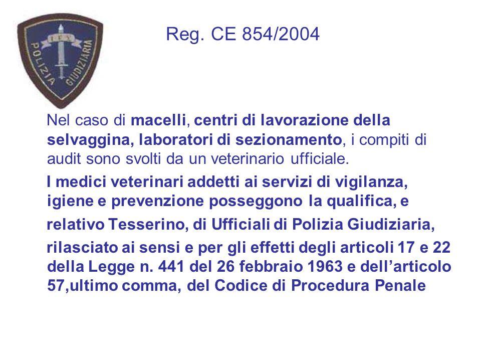 Reg. CE 854/2004