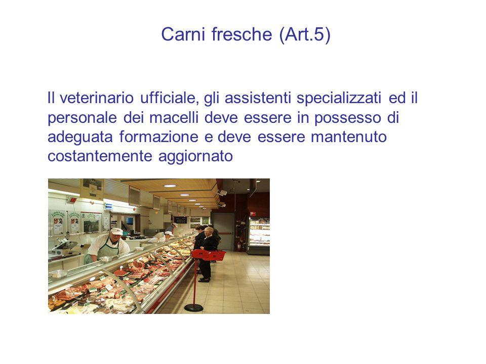 Carni fresche (Art.5)