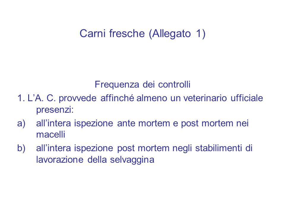 Carni fresche (Allegato 1)