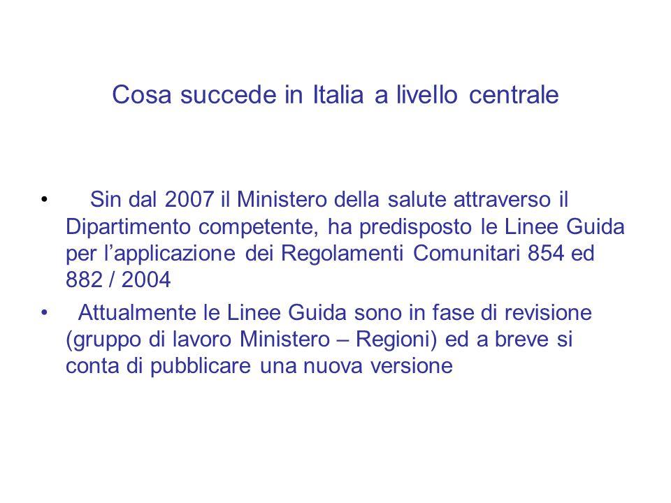 Cosa succede in Italia a livello centrale