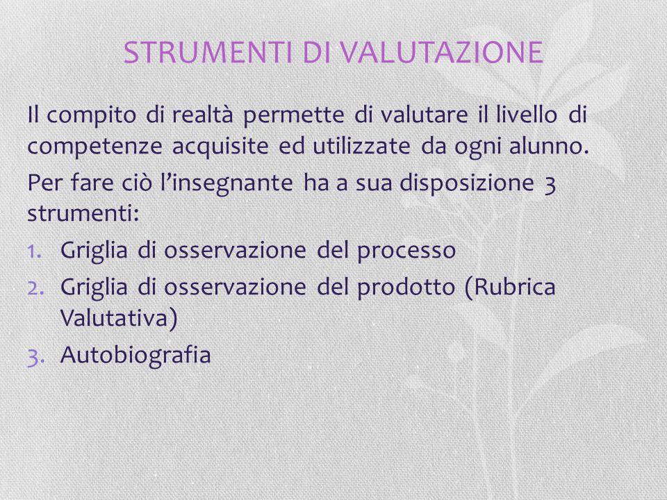 STRUMENTI DI VALUTAZIONE
