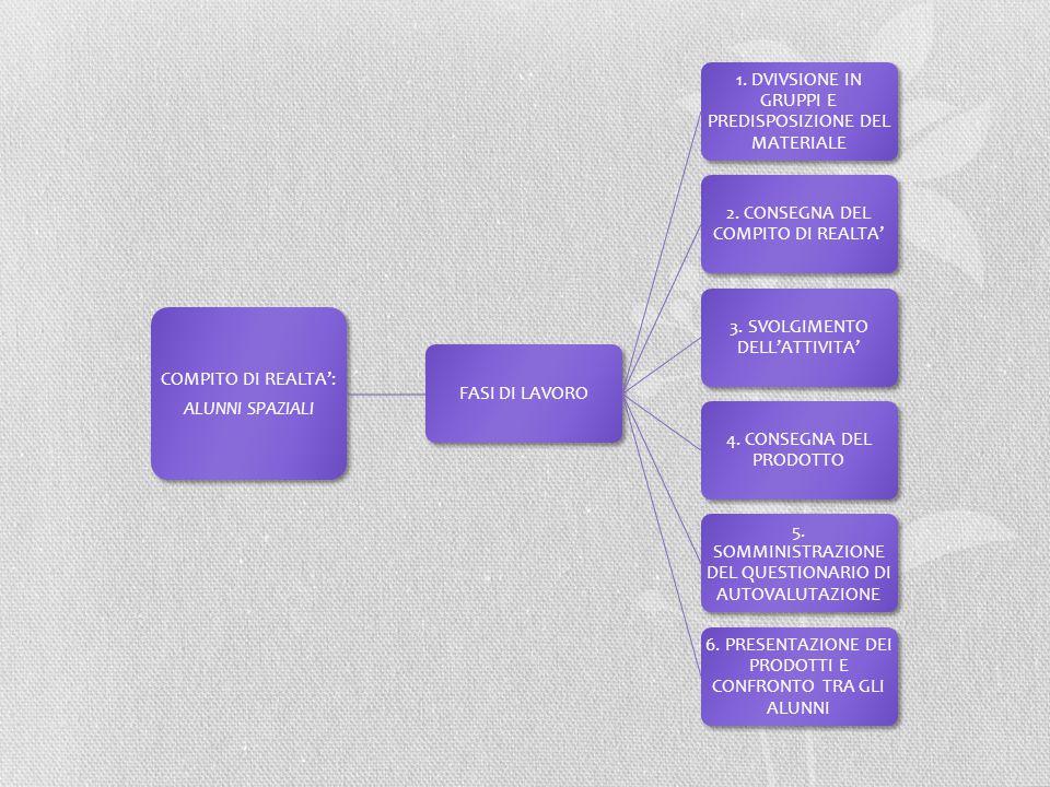 1. DVIVSIONE IN GRUPPI E PREDISPOSIZIONE DEL MATERIALE