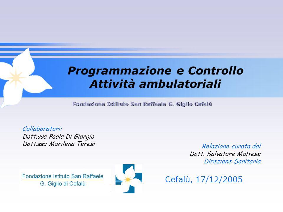 Programmazione e Controllo Attività ambulatoriali