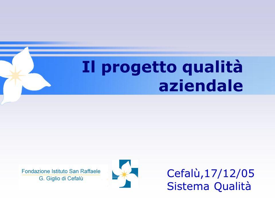Il progetto qualità aziendale