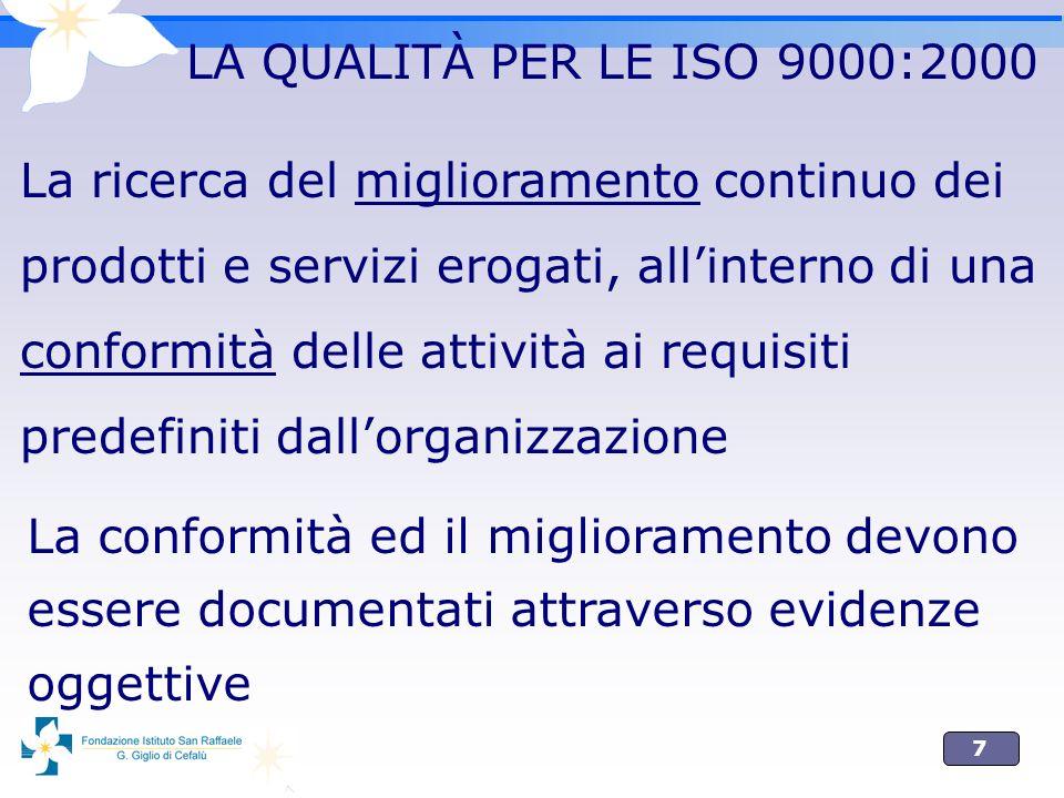 LA QUALITÀ PER LE ISO 9000:2000