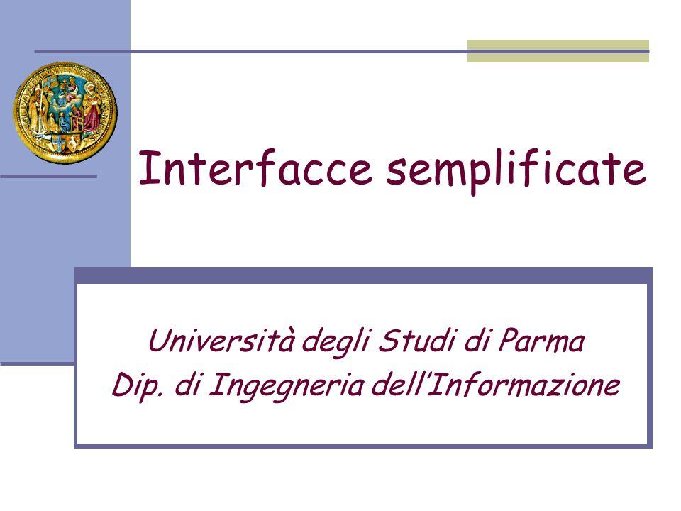 Interfacce semplificate