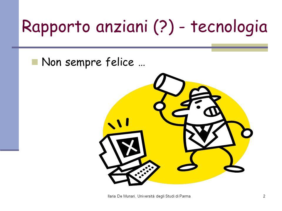 Rapporto anziani ( ) - tecnologia