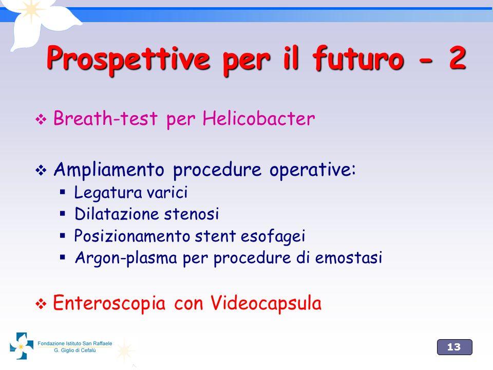 Prospettive per il futuro - 2