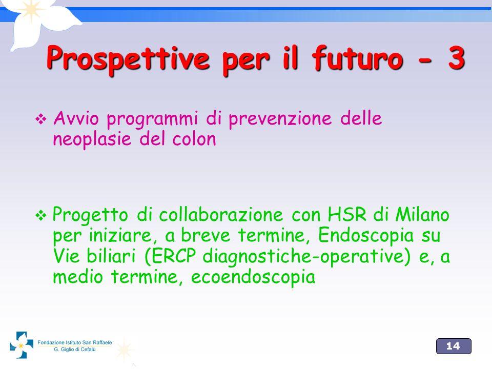 Prospettive per il futuro - 3