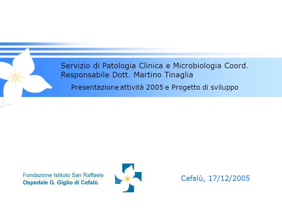 Servizio di Patologia Clinica e Microbiologia Coord. Responsabile Dott
