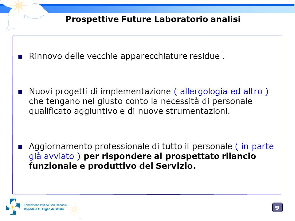 Prospettive Future Laboratorio analisi