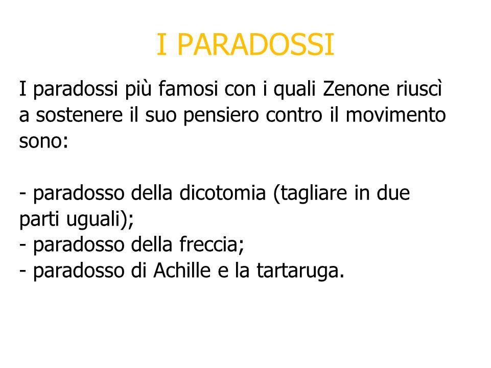 I PARADOSSI