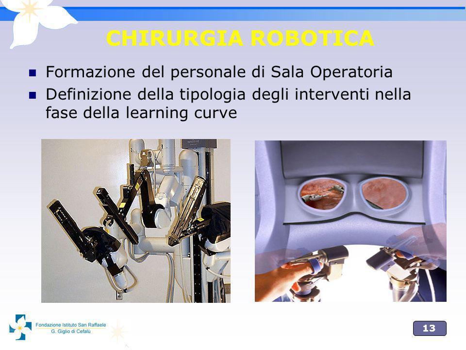 CHIRURGIA ROBOTICA Formazione del personale di Sala Operatoria