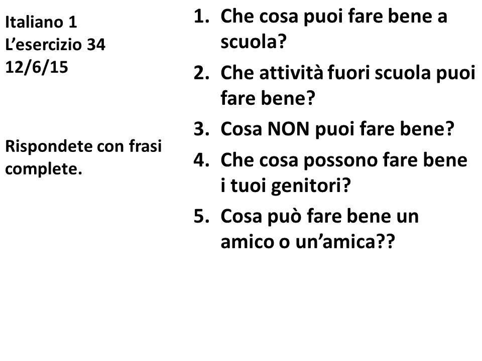 Italiano 1 L'esercizio 34 12/6/15
