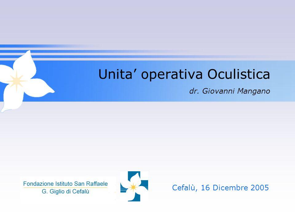 Unita' operativa Oculistica dr. Giovanni Mangano