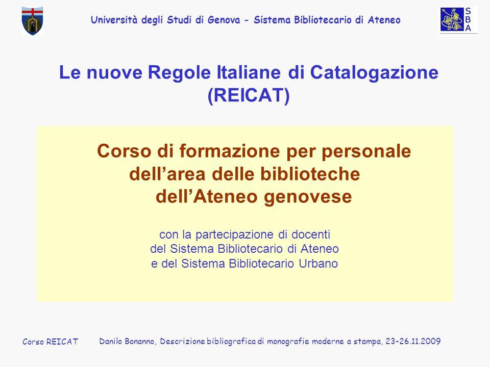 Le nuove Regole Italiane di Catalogazione (REICAT)