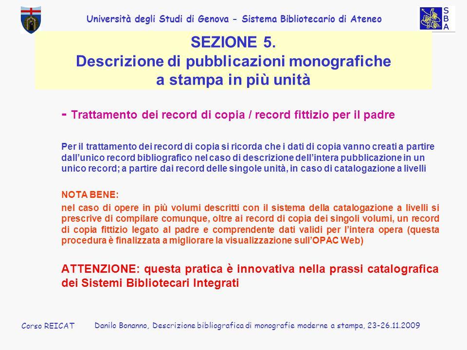 - Trattamento dei record di copia / record fittizio per il padre