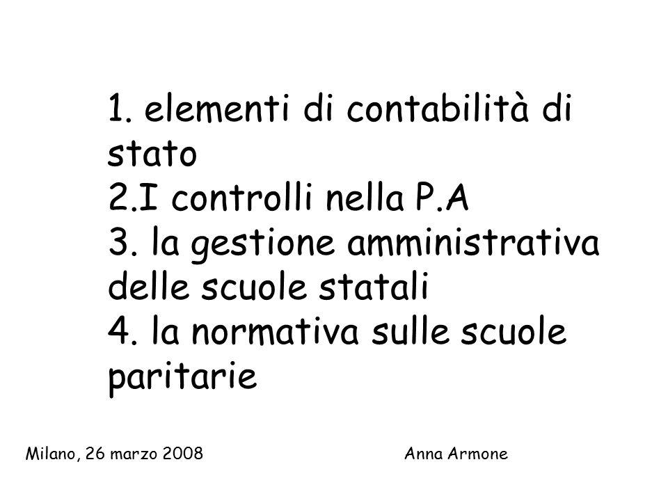 1. elementi di contabilità di stato 2. I controlli nella P. A 3