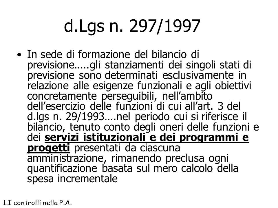 d.Lgs n. 297/1997