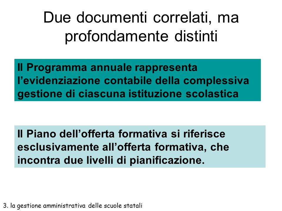 Due documenti correlati, ma profondamente distinti