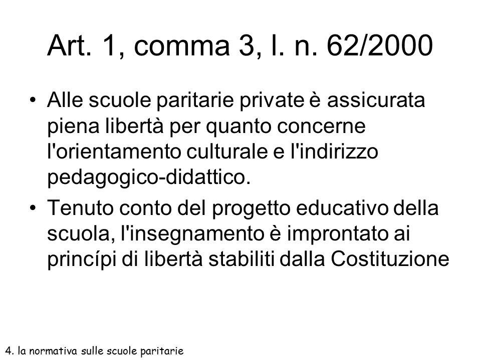 Art. 1, comma 3, l. n. 62/2000