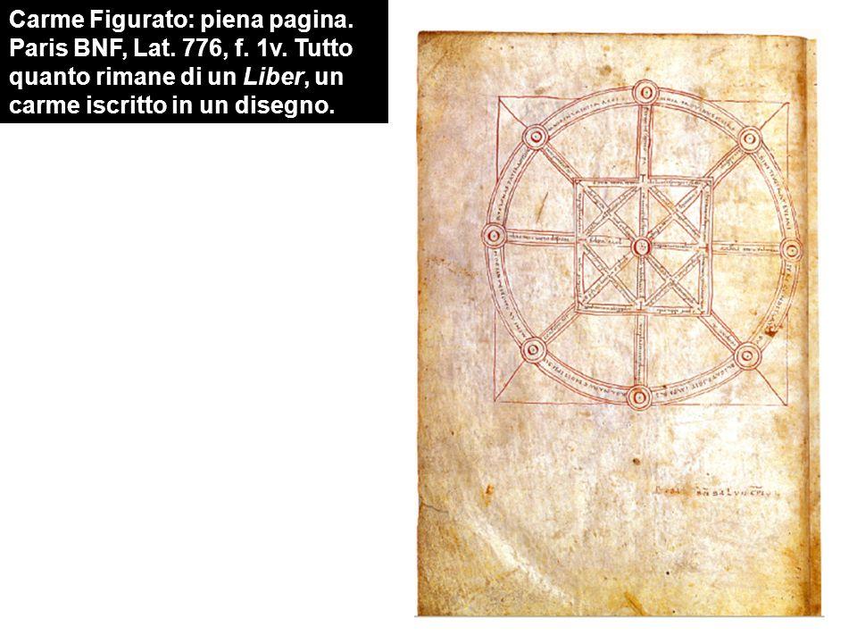 Carme Figurato: piena pagina. Paris BNF, Lat. 776, f. 1v