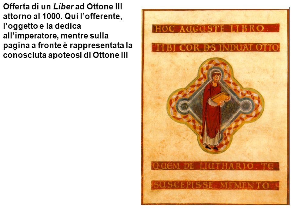 Offerta di un Liber ad Ottone III attorno al 1000
