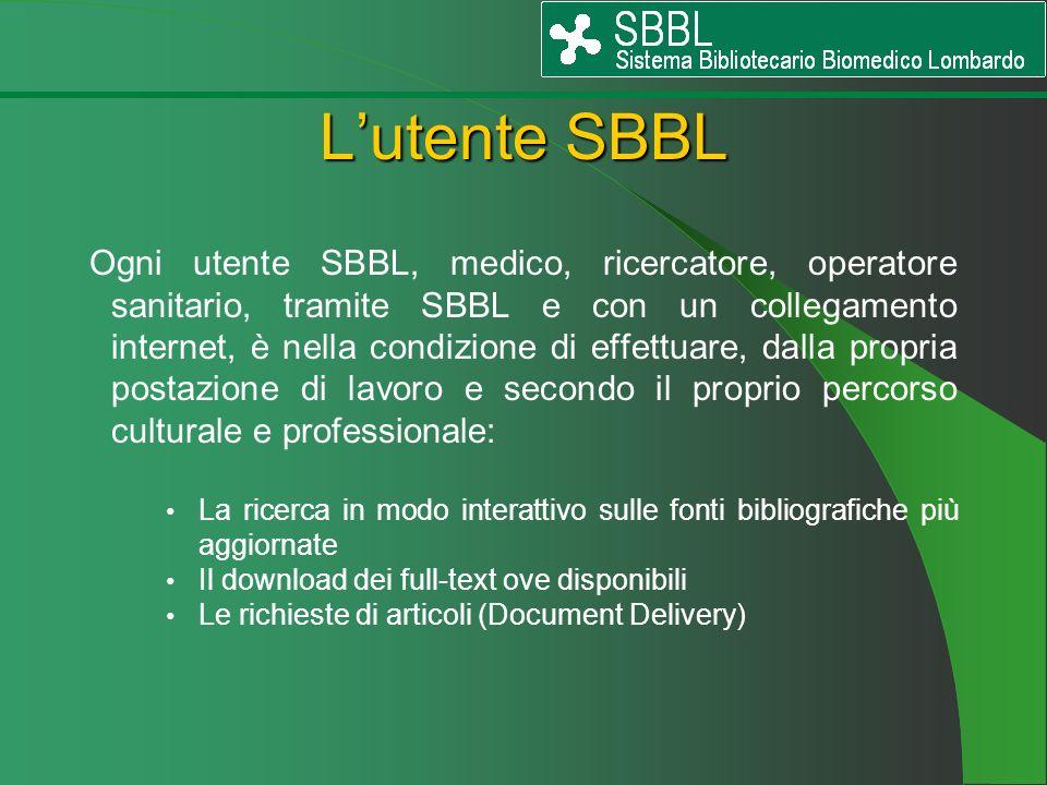 L'utente SBBL
